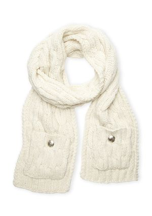 VINCE CAMUTO Cable Muffler with Pocket