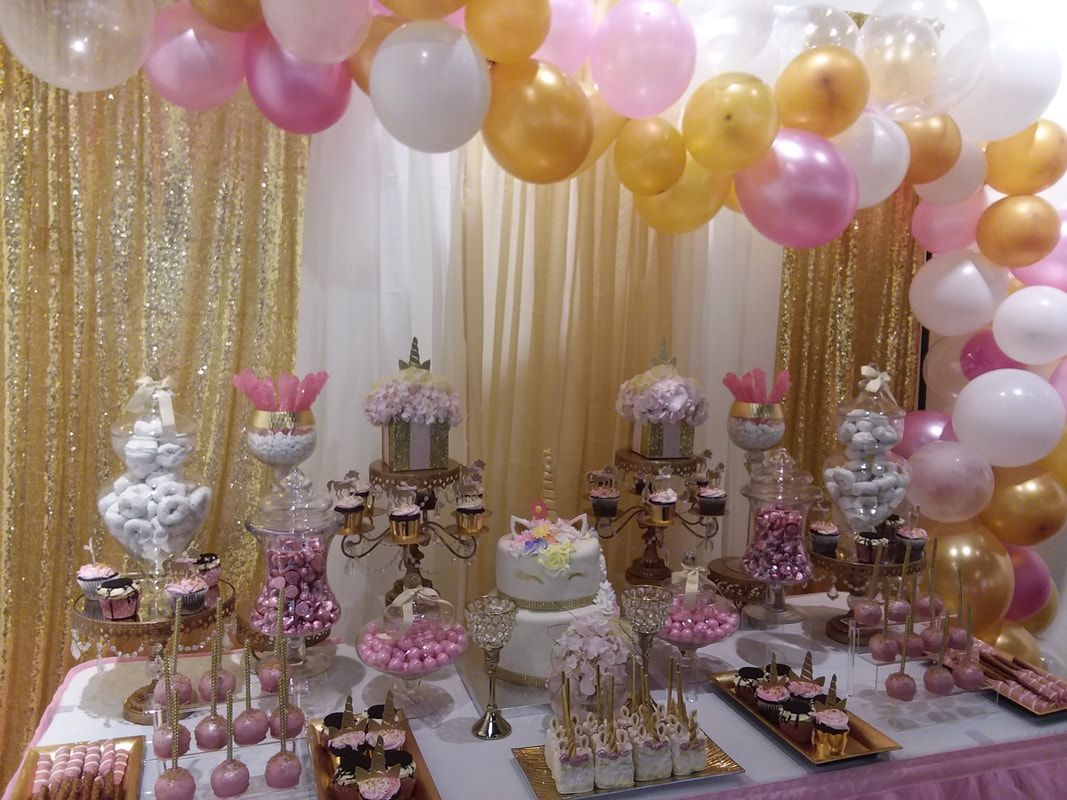 Unicorn Baby Shower Unicorn Candy Table Unicorn Party Pink And Gold Candy B Candy Buffet Baby Shower Baby Shower Candy Table Unicorn Baby Shower Decorations