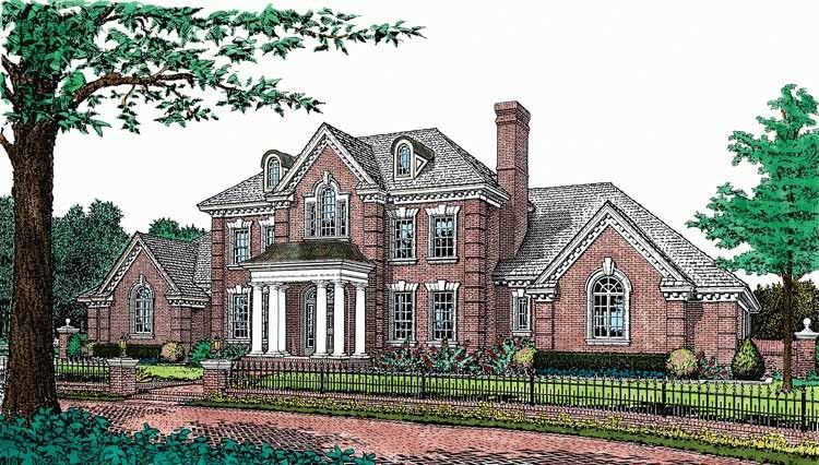 Adam Federal House Plan With 4045 Square Feet And 5 Bedrooms From Dream Home Source House Country Style House Plans Brick House Plans Colonial House Plans