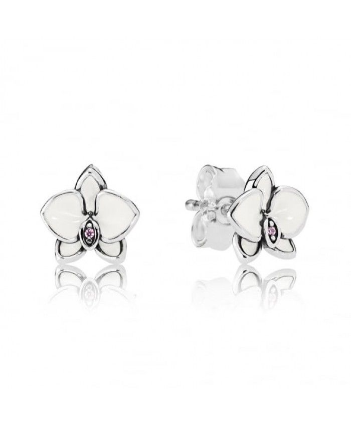 Pandora White Orchid Stud Earrings 290749en12 Sale Pandora Earrings Studs Orchid Earrings Pandora Flower