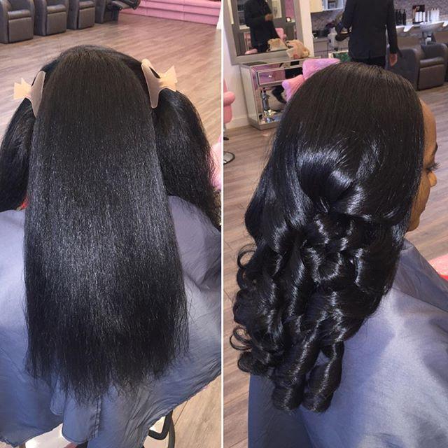 Treana On Instagram Silk Press Curls Natural Hair Beauty Hair Styles Natural Hair Styles Hair
