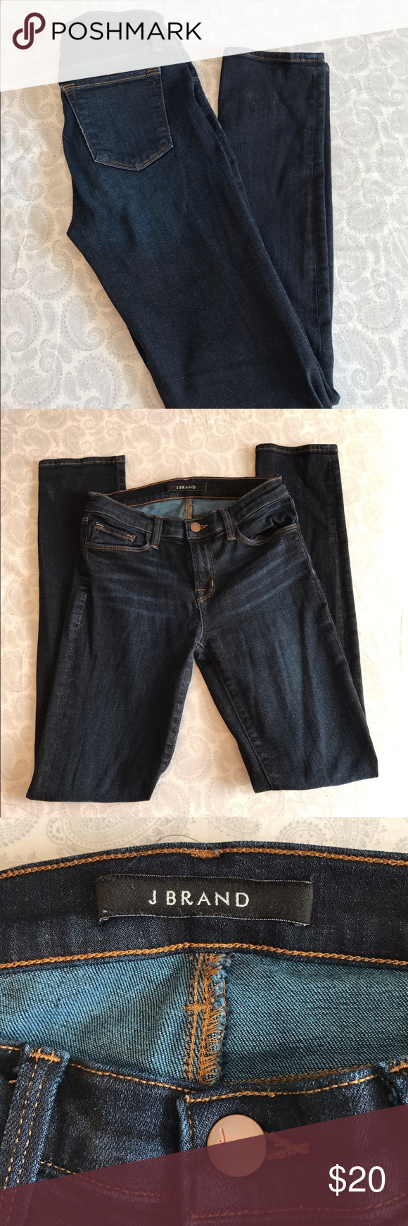"""J Brand Skinnies J Brand Skinnies. Size 26 & in EUC. Dark wash with 31"""" inseam. In flaws or signs of wear. J Brand Jeans Skinny"""