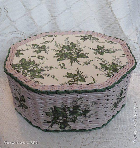 Поделка изделие Плетение Большие коробки+  Трубочки бумажные фото 22