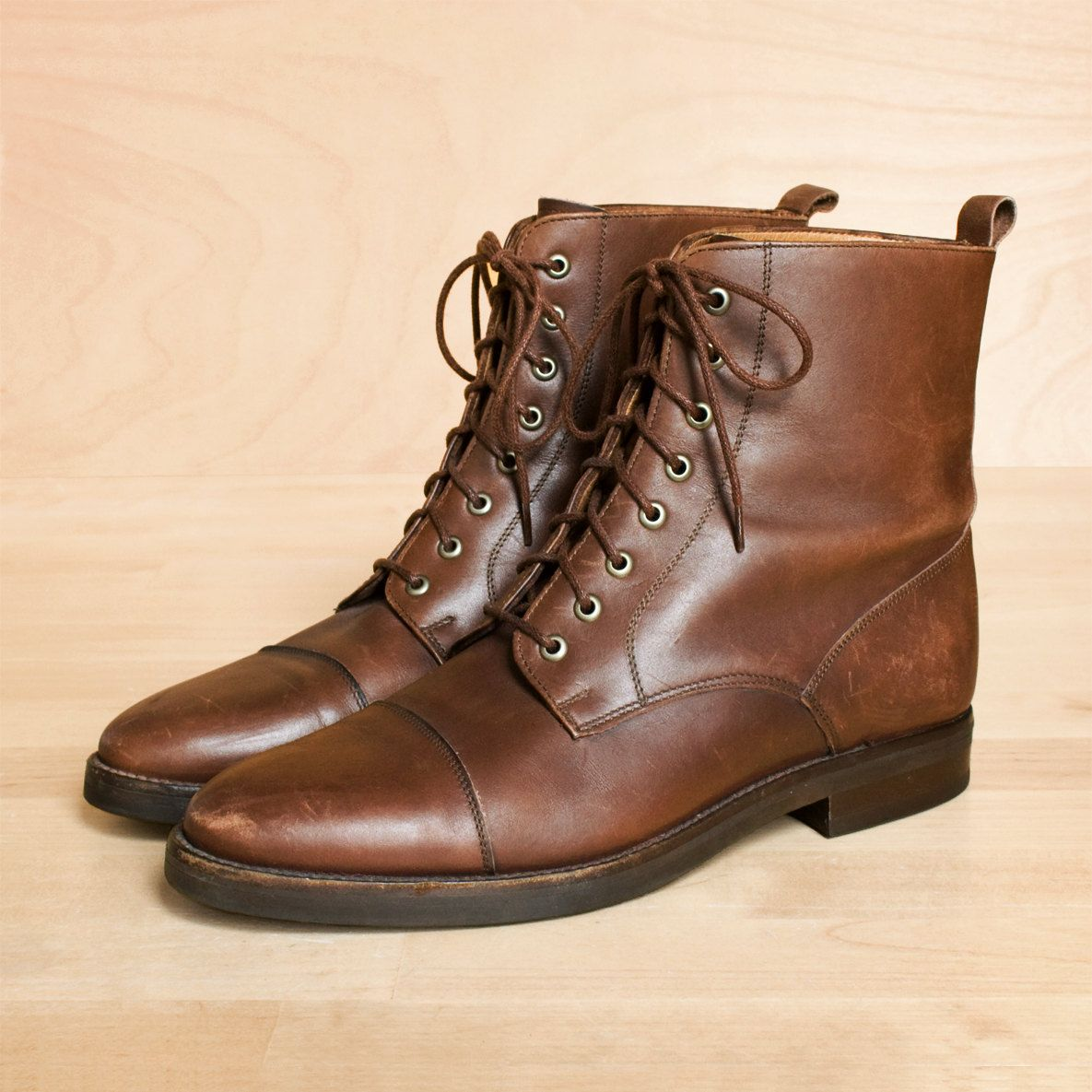 ankle lace up flat boots for women brown - Google Search | My ...