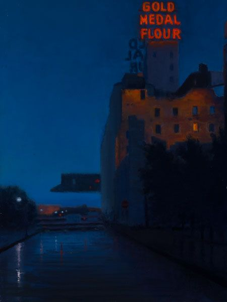 """Gold Medal Building At Night"" by Carl A. Bretzke"