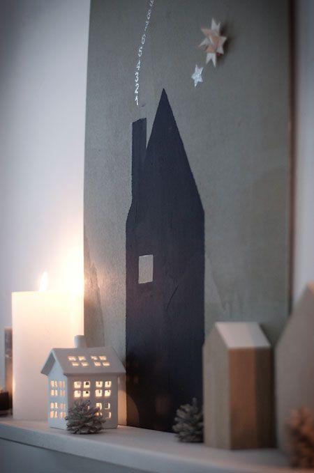 weihnachtsstadt unter`m sternenhimmel #hausdeko