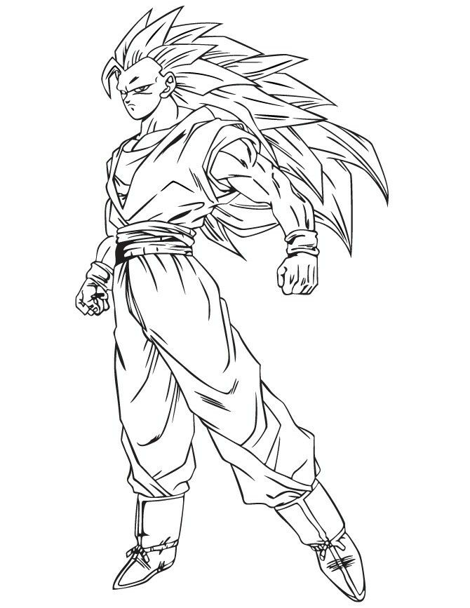 63 Top Dragon Ball Z Coloring Pages Goku Super Saiyan 3 Pictures