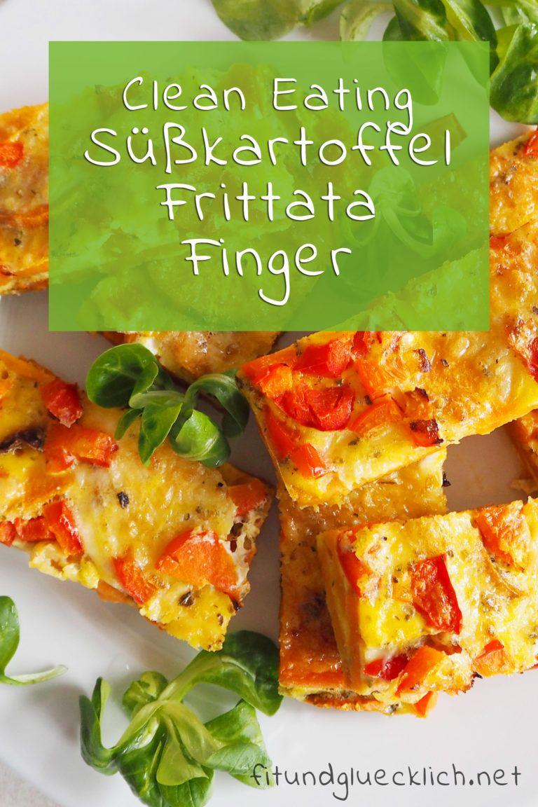 {Clean Eating} Süßkartoffel Frittata Finger - Fit & Glücklich