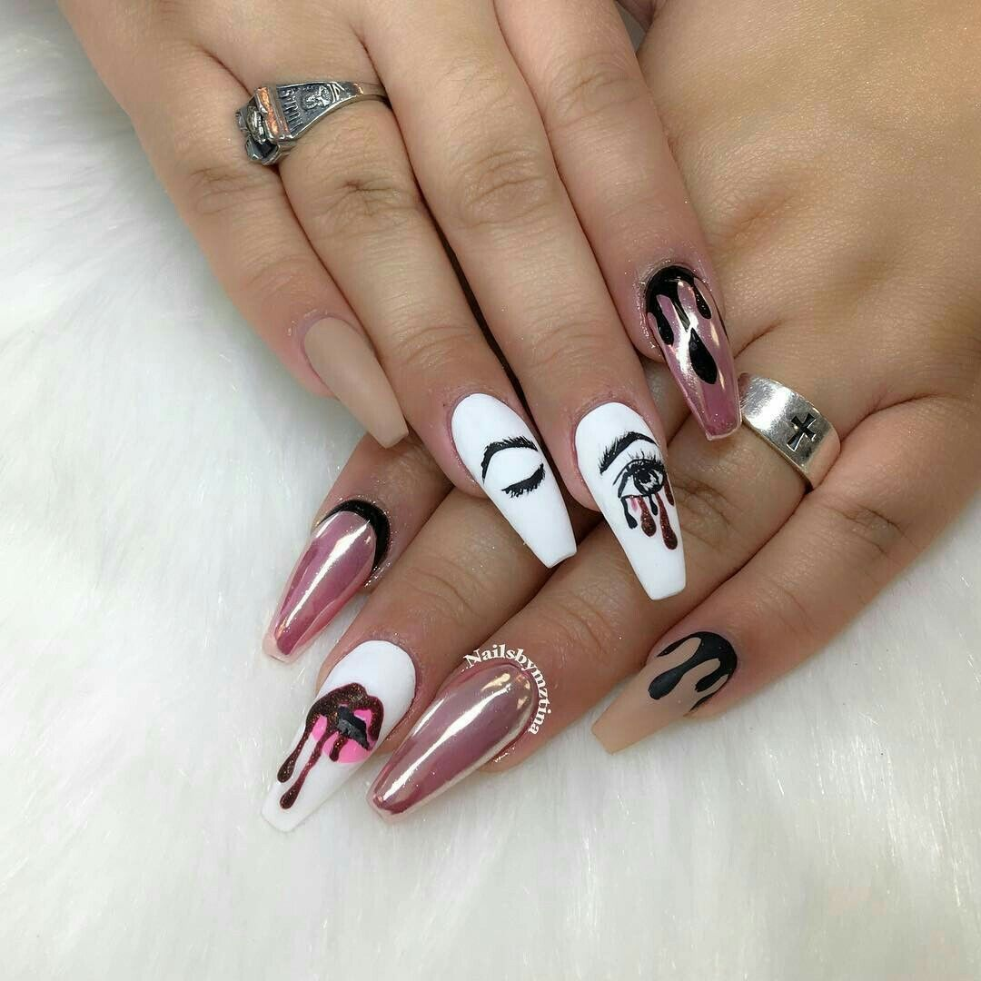 Long Nail Designs, Exotic Nail Designs, Cute Nail Designs, Coffin Nails  Designs Kylie - Pin By Kayla Ouellette On Nails In 2018 Pinterest Nails, Nail