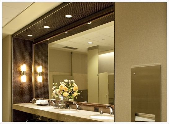 See The Mirror Plus Lighting On The Wall Enlarge So Much Space