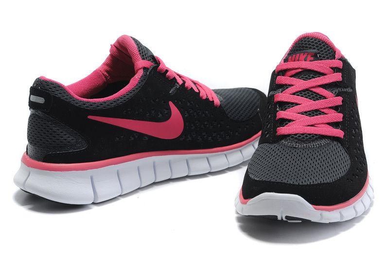 Nike Run Womens Black White Pink. | Nike free, Zapatillas ...