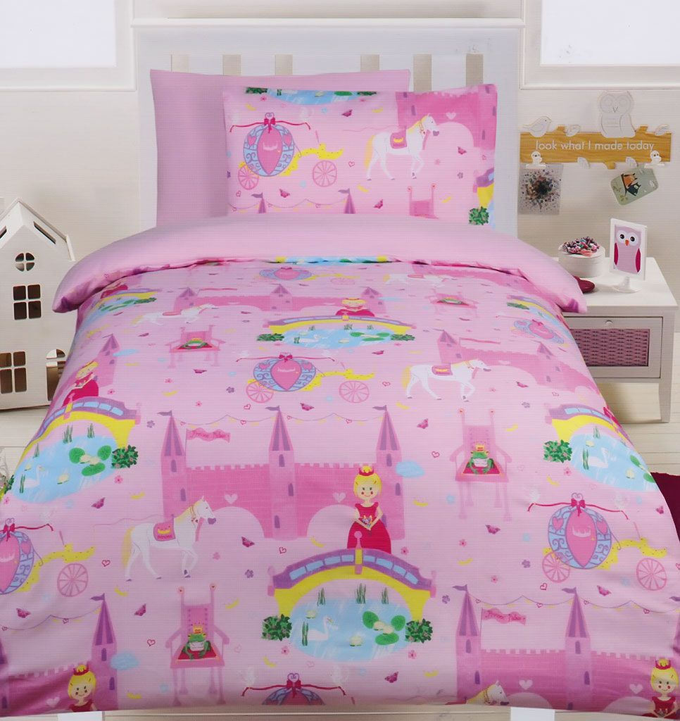 Home 187 unicorn quilt cover set return to previous page - Fairy Tale Glow In The Dark Quilt Cover Set From Kids Bedding Dreams