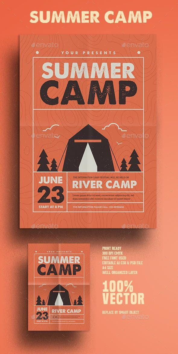 Photo of Indie Summer Camp – Photoshop PSD #event #scout #campingillustration