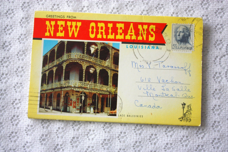 New Orleans Souvenir Folder Vintage New Orleans Louisiana Souvenir