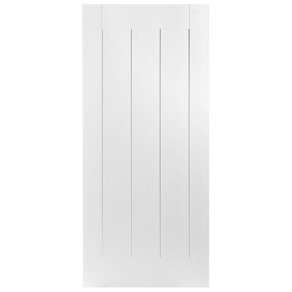 Masonite 32 in x 80 in saddlebrook smooth 1 panel plank - Home depot interior doors prehung ...