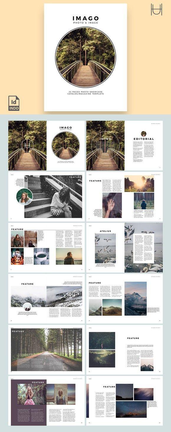 Imago - inDesign Template. Magazine Templates. $9.00
