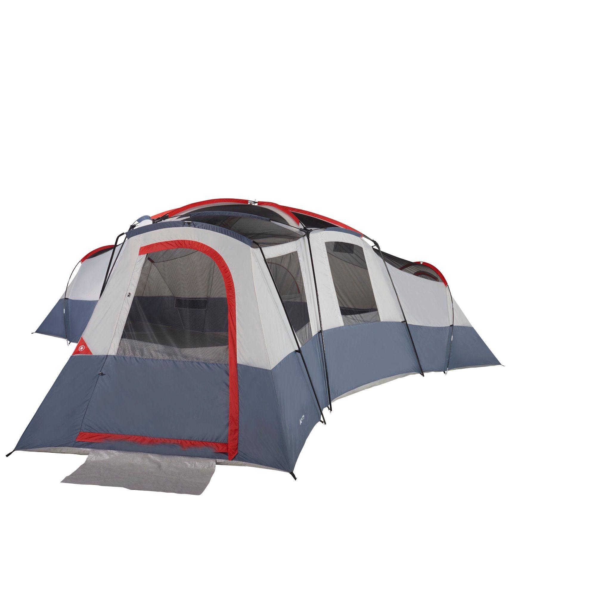 Ozark Trail 20 Person 4 Room Cabin Tent With 3 Separate Entrances Walmart Com Cabin Tent Tent Ozark