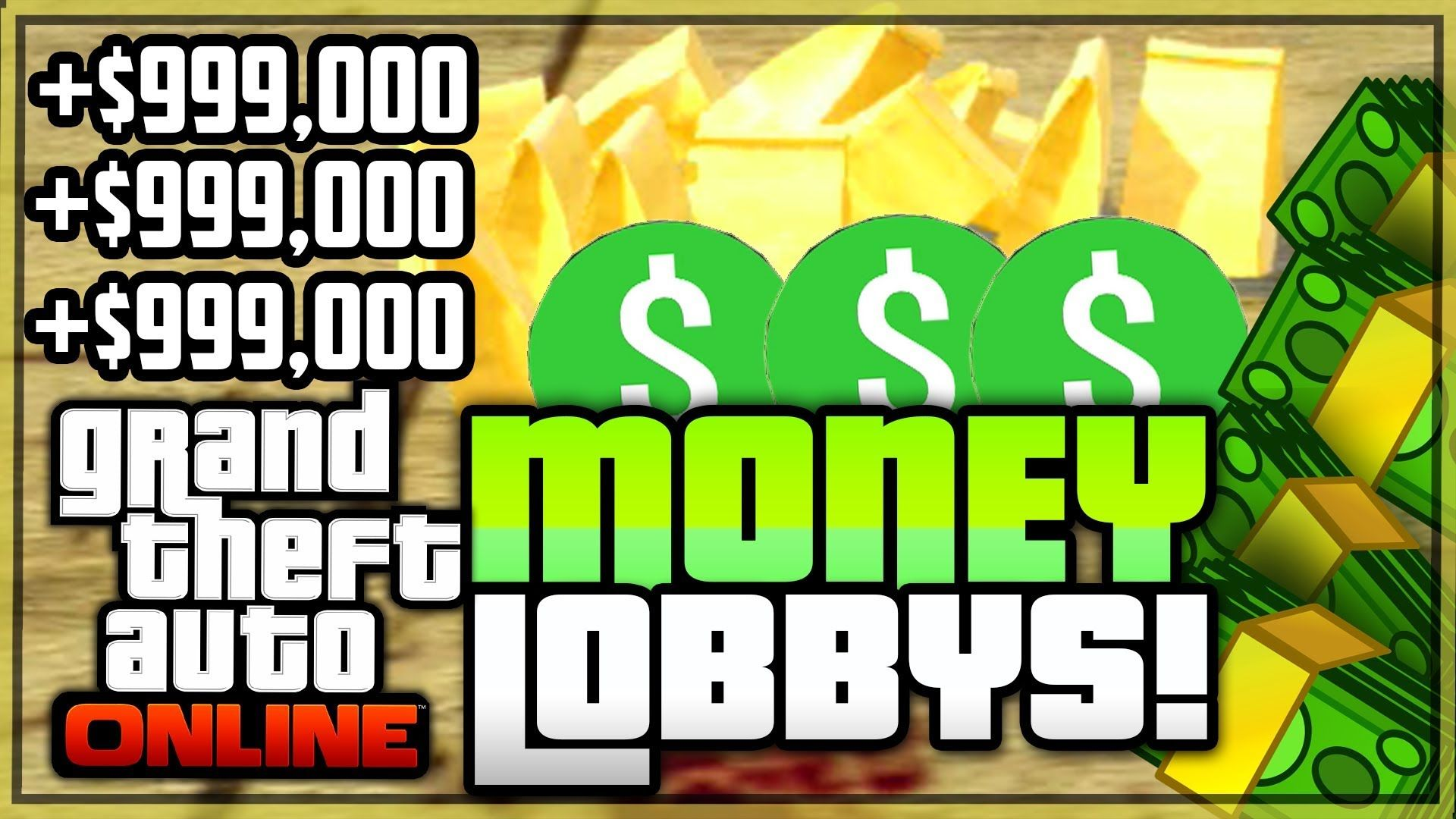 GTA 5 ONLINE: *FREE* MONEY LOBBY GLITCH 1 29/1 33 – MODDED