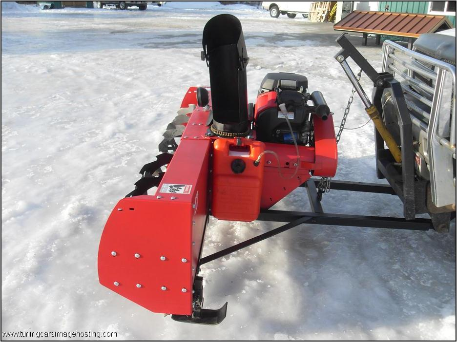 Snow Thrower Truck : Pickup truck mounted snow blowers trailers pinterest