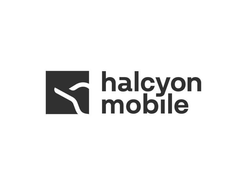 Halcyon Mobile Logo In 2020 Mobile Logo Logo Design Logos