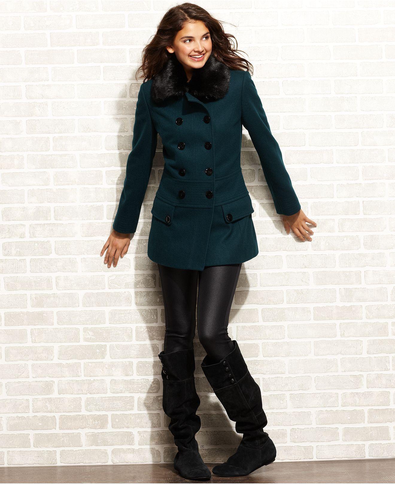 Esprit Coat Wool Blend Faux Fur Collar Double Breasted 159 99 Coats For Women Trench Coats Women Faux Fur Collar [ 1616 x 1320 Pixel ]