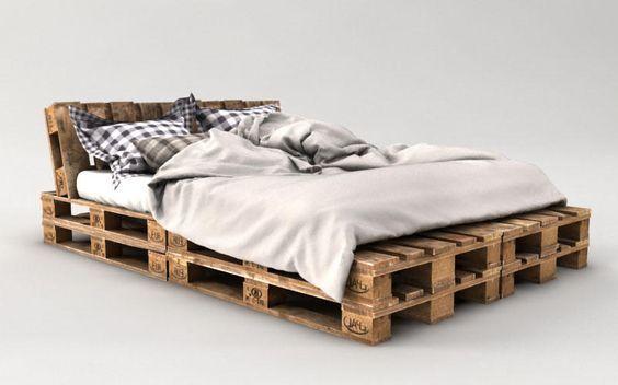 palettenbett bauen guenstig | house | Pinterest | Camas