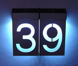 I Really Think There Is A Market For Nicer Number Signs In Singapore Or Perhaps Most People Just Customise Fabrica Solar Led House Numbers Solar House Numbers
