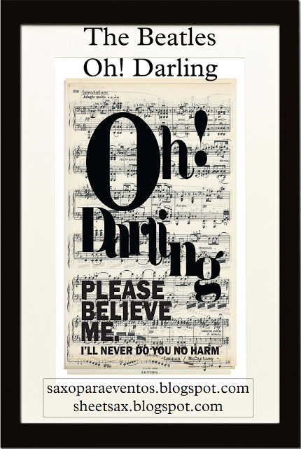 Oh Darling The Beatles Sheet Music Free Music Sheet For Sax