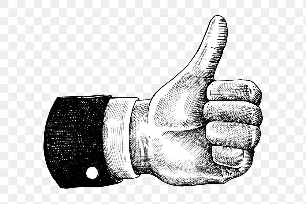 Hand Drawn Thumbs Up Hand Design Element Free Image By Rawpixel Com Hein In 2020 Thumbs Up Drawing How To Draw Hands Design Element