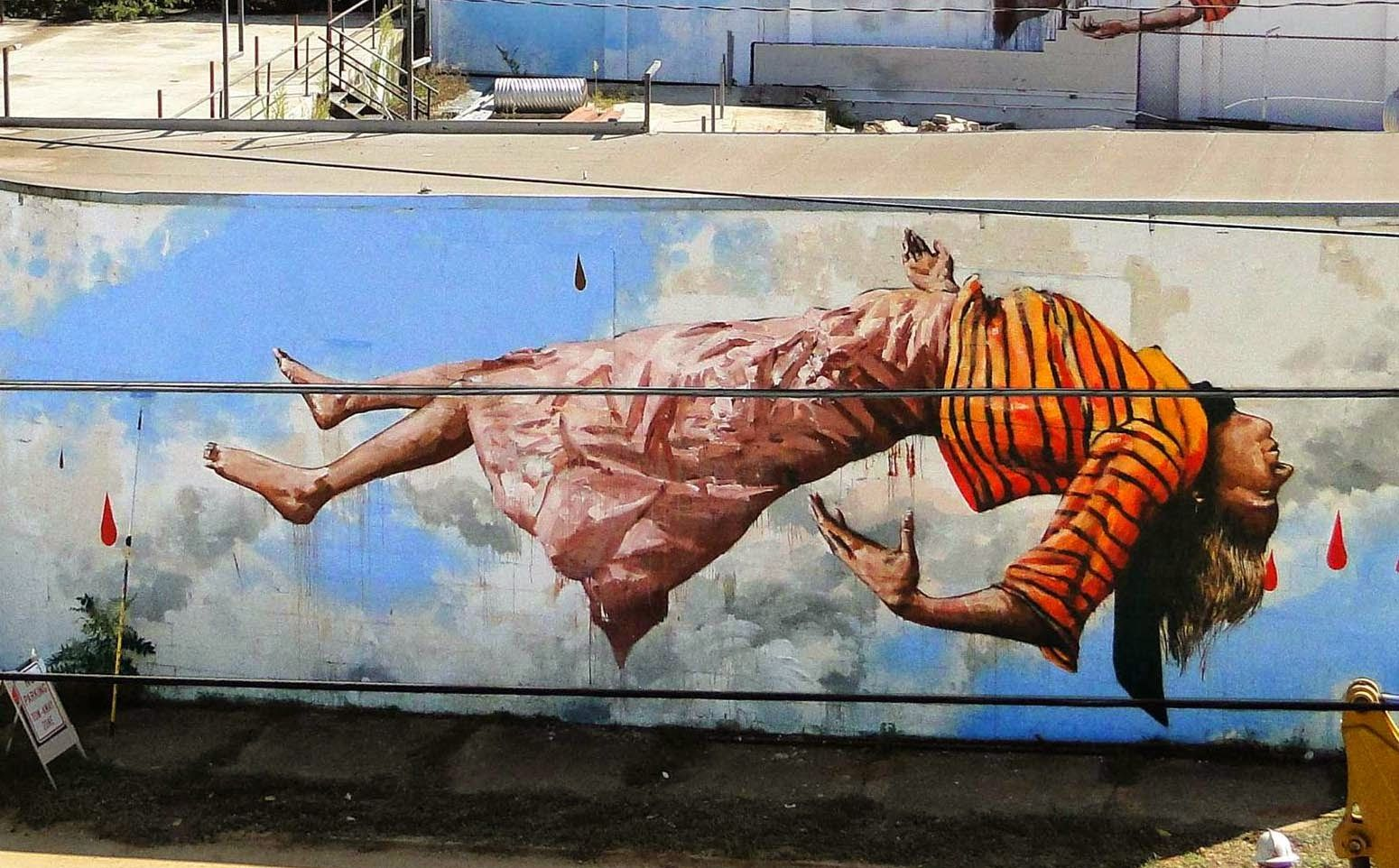 Street Art By Fintan Magee In Atlanta USA For Living Walls