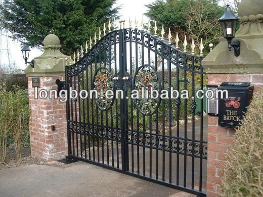 2015 top selling modern main gate designs buy main gate for Portones en hierro forjado fotos