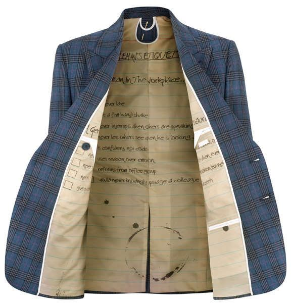 """pp: The """"A Suit That Fits"""" label is changing the operations of bespoke suit making. Members of the online community can now upload pictures to the site which are in turn printed on the lining of dinner jackets, forging a new path in the customized menswear sector."""