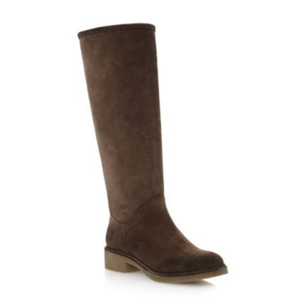 Faux Fur Lined Knee high Boot by Dune