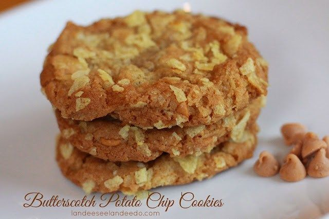 Butterscotch Potato Chip Cookies - landeelu.com