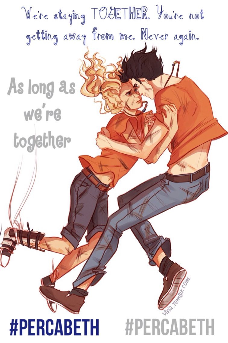 #percabeth Percy and Annabeth falling into Tartarus. Art ...