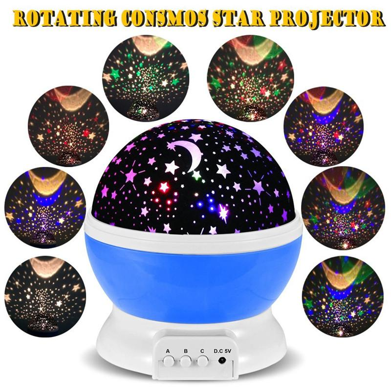 Self Rotating Constellation Night Projector Lamp Baby Night Light Sky Lamp Starry Night Light
