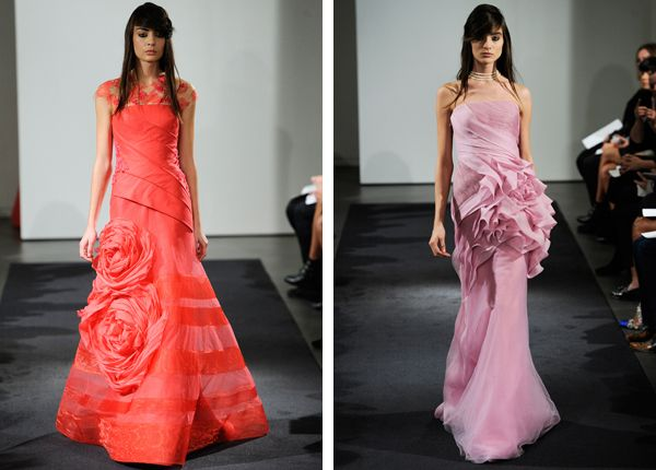 Fall 2014 Bridal Week Wedding Dresses on TahoeUnveiled.com ~ Pink wedding dresses from Vera Wang