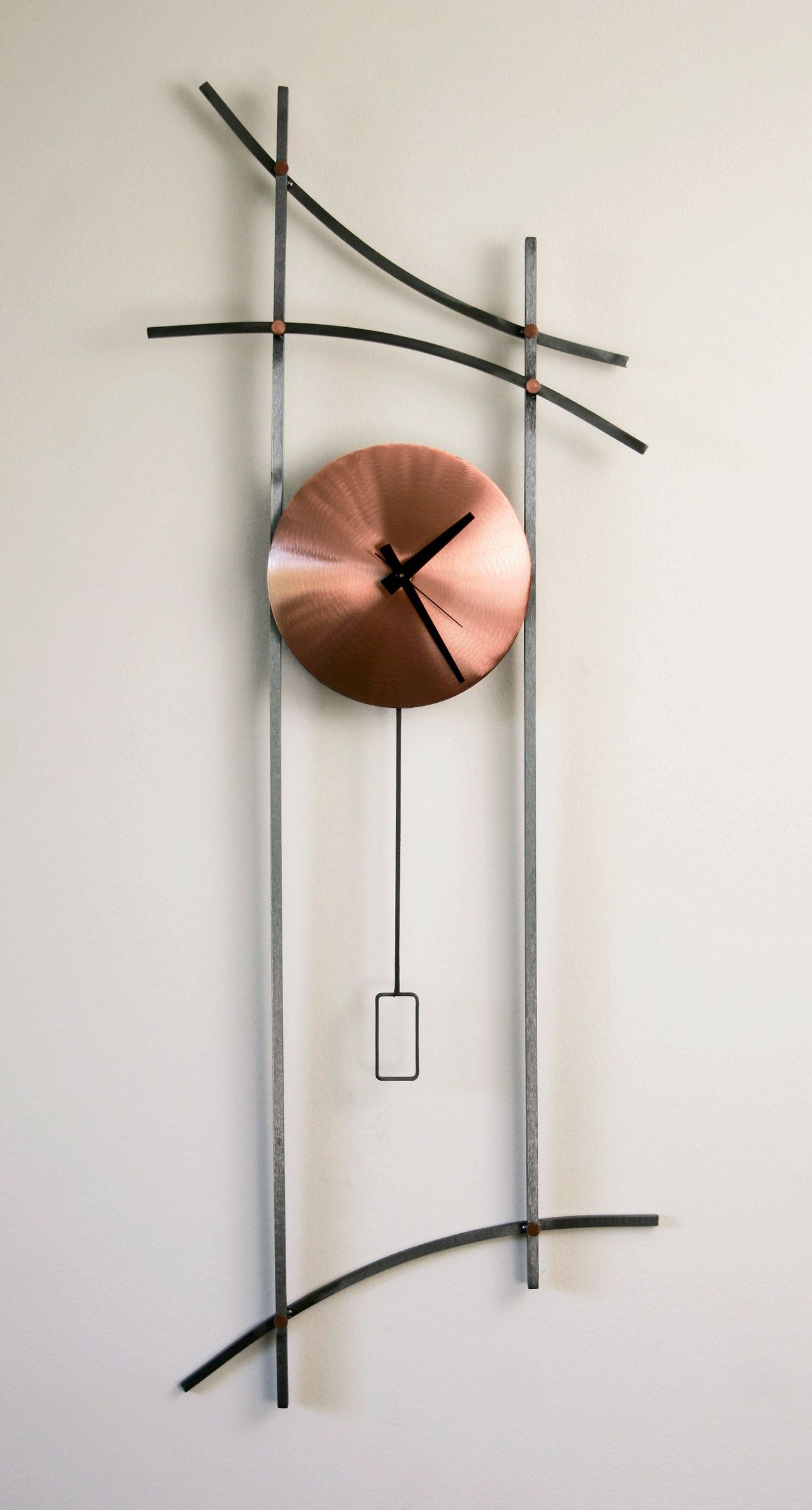 asian wall clock by ken girardini and julie girardini metal clock