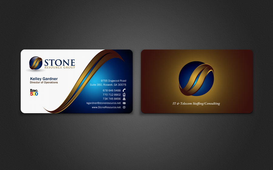 freelance STONE Business Card revamping by indezyn