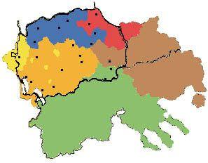 Etnogeografska Karta Na Makedonija Yellow Miyak Orange Brsyak