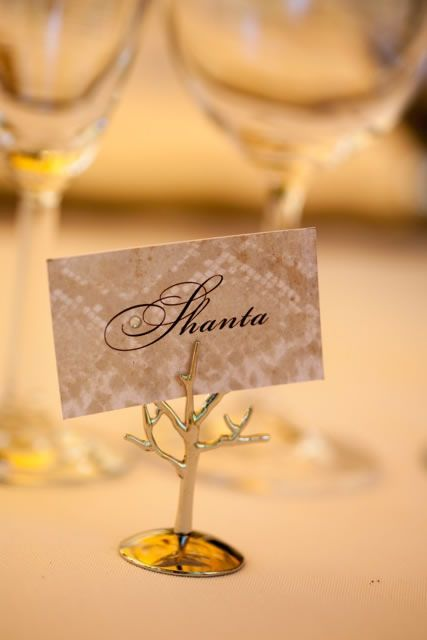 A Silver Tree Place Card Holder