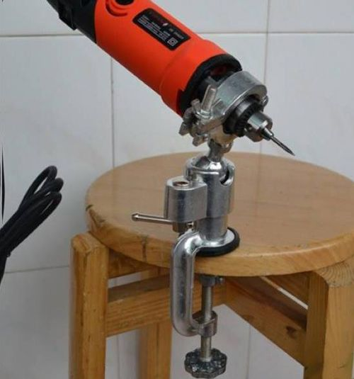 Universal Mini Clamp On Bench Vise Grinder Holder Electric Drill Stand Hand Tools From Tools On Banggood Com Lijadoras Herramientas