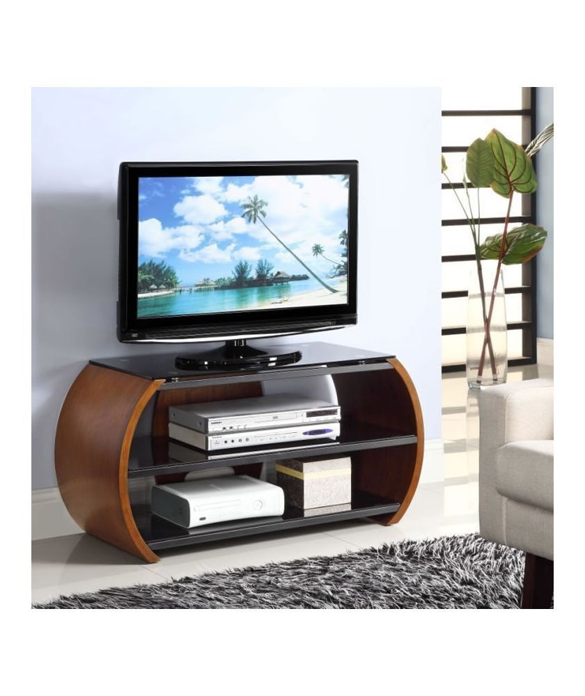 Buy Jual Walnut Effect Curved Glass TV Stand At Argos.co.uk   Your