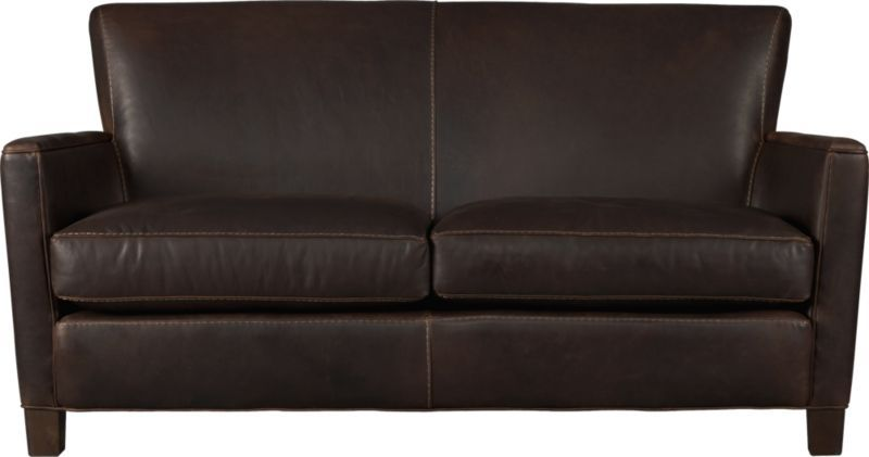 Incredible Briarwood Leather Loveseat In Sofas Crate And Barrel Or Machost Co Dining Chair Design Ideas Machostcouk