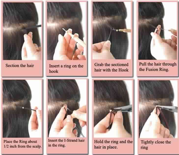 How To Apply Micro Loop Hair Extensions Hairstyles Pinterest
