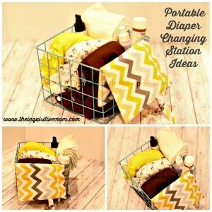 Simple, Portable Diaper Changing Station Ideas from The Inquisitive Mom. http://theinquisitivemom.com/2014/06/simple-portable-diaper-changing-station-ideas-and-a-100-kellys-closet-gift-card-giveaway.html  Photo Courtesy of Thinking About Cloth Diapers. http;/;www.thinking-about-cloth-diapers.com