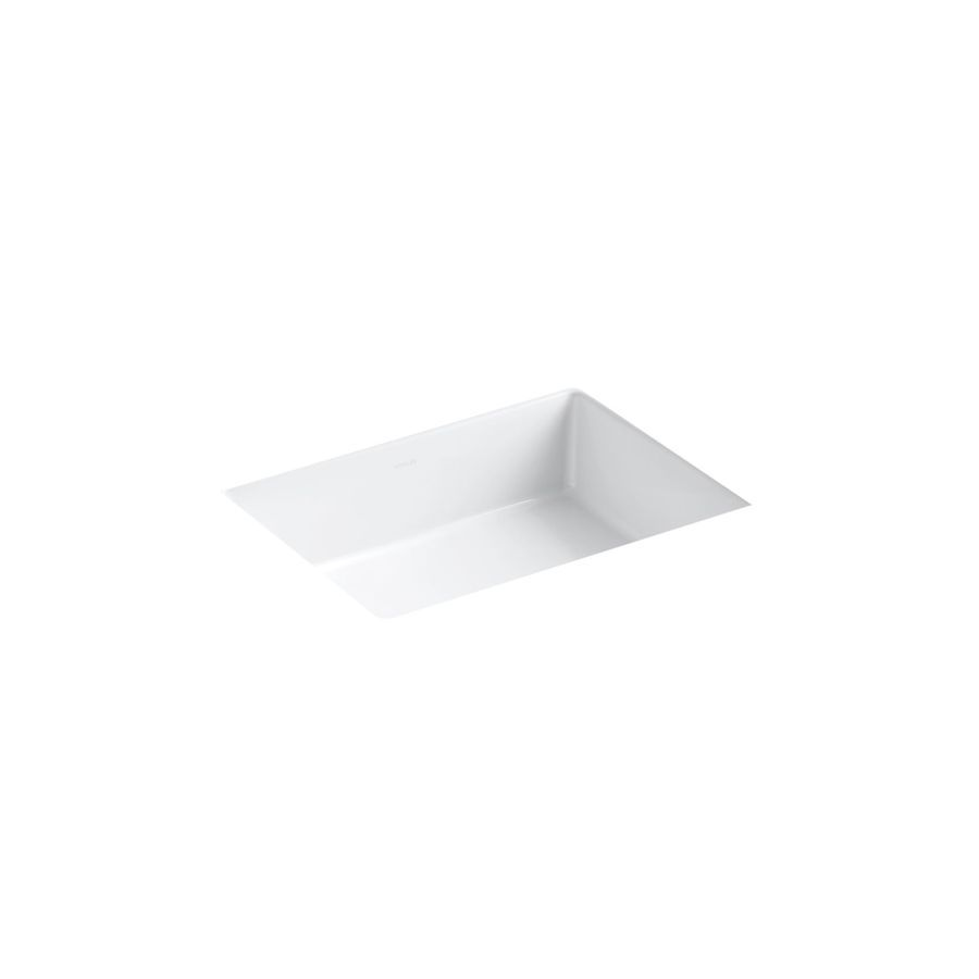undermount rectangular bathroom sink. KOHLER Verticyl White Undermount Rectangular Bathroom Sink With Overflow N