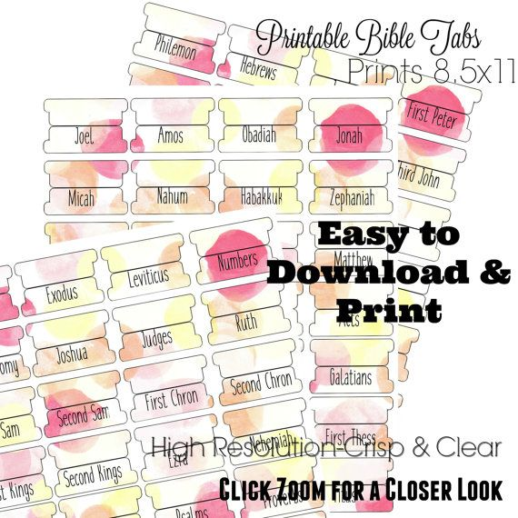 image about Printable Bible Tabs called Pin upon Bible Journaling