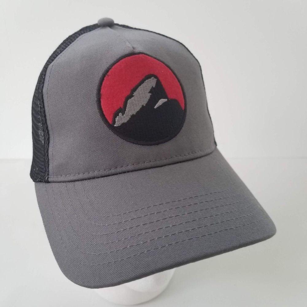 Mountain Khakis Grand Teton Trucker Cap Hat Gunmetal Gray Black Red Mesh   MountainKhakis  TruckerHat  grandteton  tetoncap c073f79c32e7