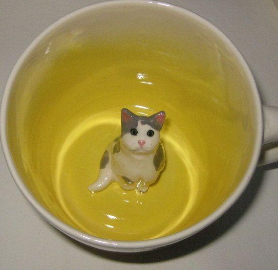 Grau gefleckt flauschige Katze (auf Bestellung)